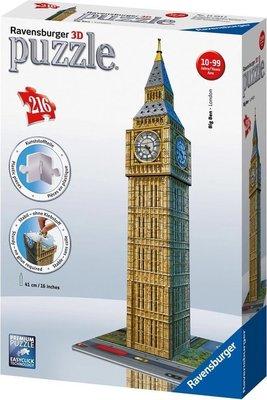 125548 Ravensburger 3D Puzzel Big Ben 216 stukjes