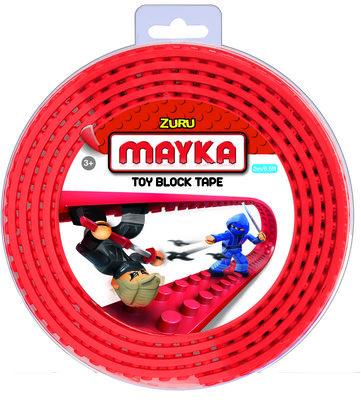 10081 Zuru-Mayka Block Tape 2 Noppen 2m Rood