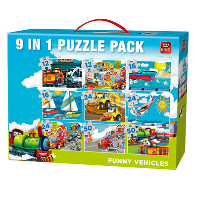 05520 King 9in1 Puzzel Funny Vehicles Volume 2