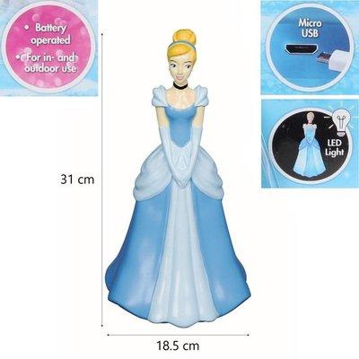 41871 Disney Princess Assepoester Sierbeeld Lamp met Micro USB 31x18cm
