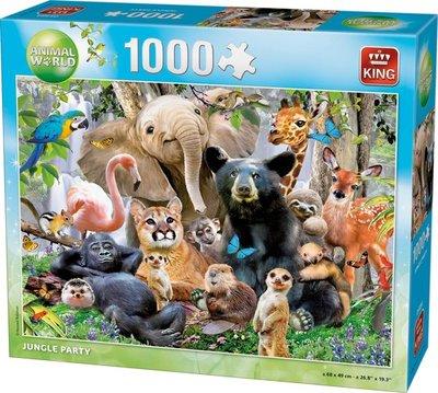05484 King Puzzel Jungle Party 1000 Stukjes