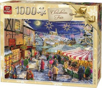 05682 King Puzzel kerstmarkt 1000 Stukjes