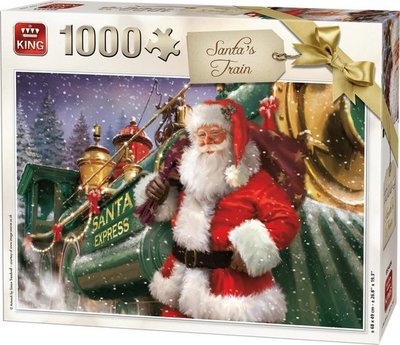 05684 King Puzzel Santa Train 1000 Stukjes