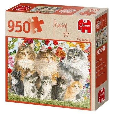 81758 Jumbo Puzzel Cat Family 950 Stukjes