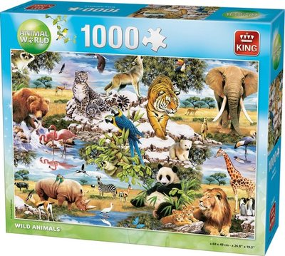 05481 King Puzzel Wild Animals 1000 stukjes