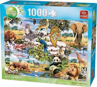 05481 King Puzzel Wild Animals 1000 stukjes