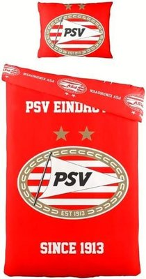 93374 PSV Dekbedovertrek - Eenpersoons - 140 x 200