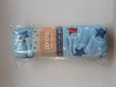 20624 Lief! Badponcho Blauw Ster
