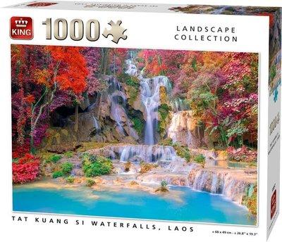 55857 King Puzzel Tat Kuang Si Waterfalls Laos 1000 stukjes