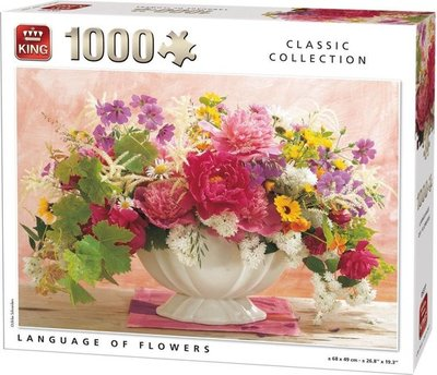 05377 King Puzzel Language Of Flowers 1000 Stukjes