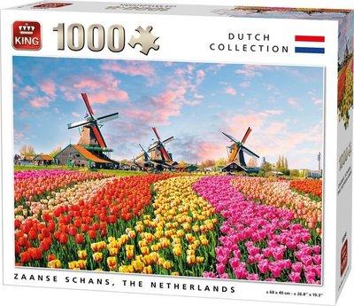 05722 King Puzzel Zaanse Schans Nederland 1000 stukjes