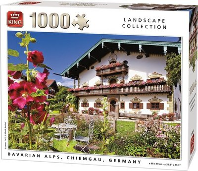 55854 King Puzzel Bavarian Alps Chiemgau Germany 1000 Stukjes