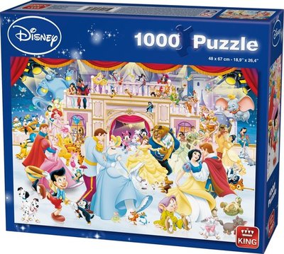 05180 King Puzzel Disney Holiday On Ice 1000 Stukjes