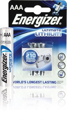 262629 ENERGIZER Ultimate Lithium Micro AAA 2 Stuks