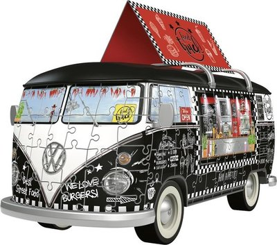 125258 Ravensburger 3D Puzzel Volkswagen bus Food Truck 162 stukjes