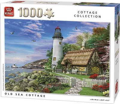 05717 King Puzzel Old Sea Cottage 1000 Stukjes