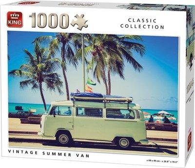 05719 King Puzzel Vintage Summer Van 1000 Stukjes
