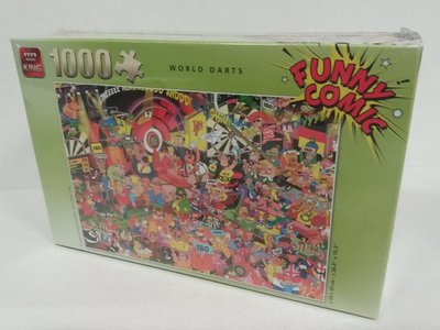 85581 King Puzzel Funny Comics World Darts 1000 Stukjes