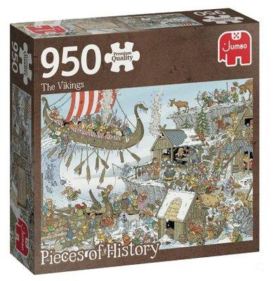 81814 Jumbo Pieces of History The Vikings Puzzel 950 stukjes