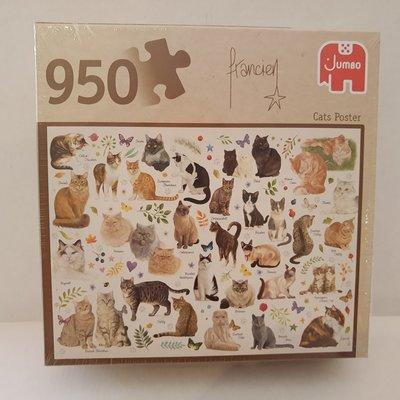 81808 Jumbo Puzzel Francien Cats Poster 950 Stukjes