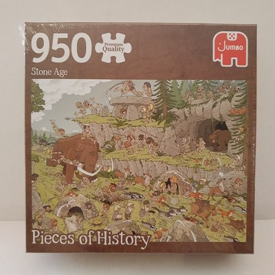 81813 Jumbo Puzzel Pieces Of History The Stone Age 950 Stukjes