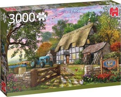 18870 Jumbo Puzzel Premium Collection Het Huisje van de Boer 3000 Stukjes