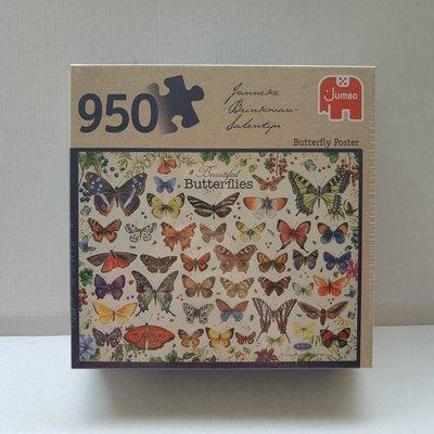 81807 Jumbo Puzzel Janneke Brinkman Butterfly Poster 950 stukjes