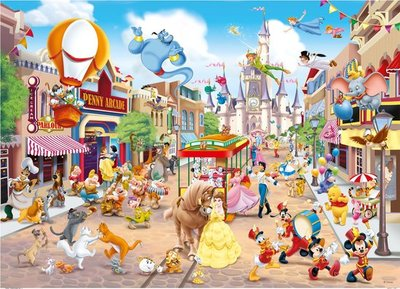 55886 Disney Puzzel 1000 Stukjes - Disneyland - King