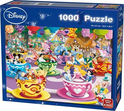 55887 Disney Puzzel 1000 Stukjes - Mad Tea Cups - King
