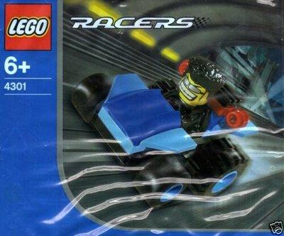 4301 LEGO RACERS Blue Bullet Polybag