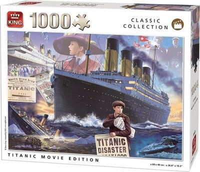 55933 King Puzzel Titanic Movie Edition 1000 Stukjes