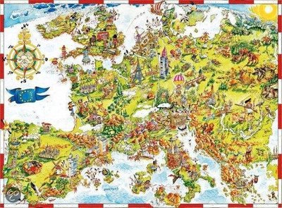 05077 King Puzzel Comic Europe 1000 Stukjes