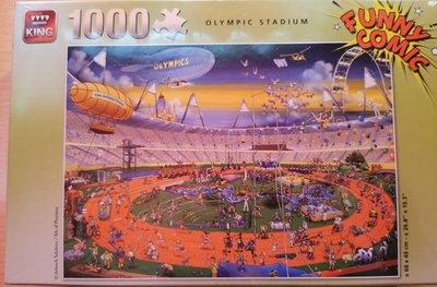 85582 King Puzzel Funny Comic Olympic Stadium 1000 Stukjes