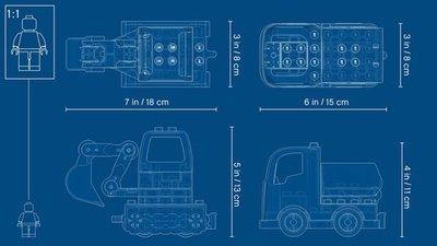 10931 LEGO DUPLO Truck & Graafmachine met Rupsbanden