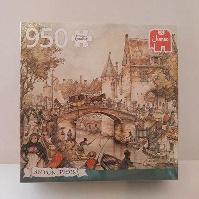 81817 Jumbo Puzzel Anton Pieck Koets Op De Brug 950 Stukjes