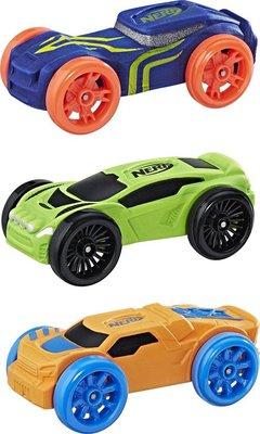 0775 NERF Nitro Schuimauto's 3 stuks - blauw, groen en oranje