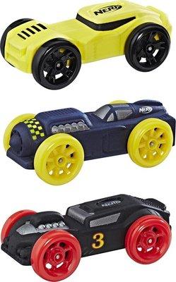 0778 NERF Nitro Foam Car Refill 3 stuks - geel, blauw en zwart