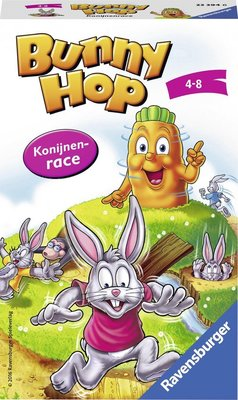 233946 Ravensburger Pocketspel Bunny Hop Konijnenrace