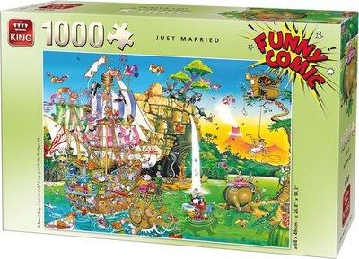 05224 King Funny Comic Puzzel Just Married 1000 Stukjes