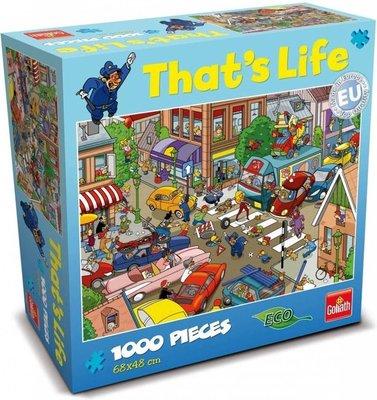 71309 Goliath Puzzel that's life verkeersontstop 1000 stukjes