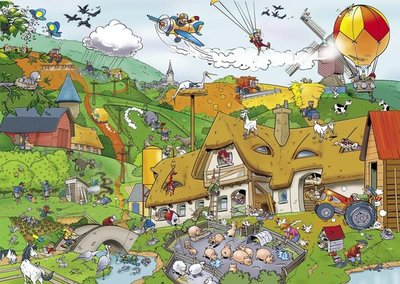 71303 Goliath Puzzel That's Life Farm 1000 stukjes
