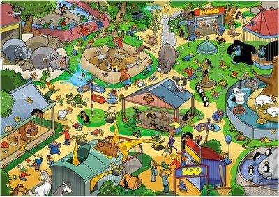 71308 Goliath Puzzel That's Life New Zoo 1000 stukjes