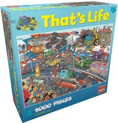 71425 Goliath Puzzel That's Life Car Race 1000 stukjes
