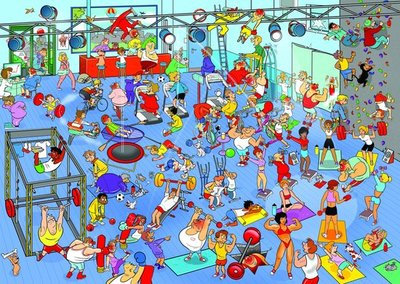 71348 Goliath Puzzel That's life The Gym 1000 stukjes