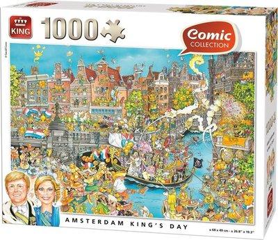 05132 King Puzzel Komische Amsterdam Koninginnedag 1000 Stukjes