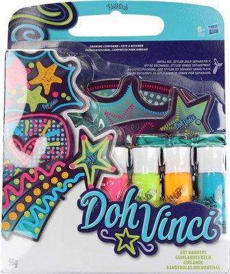 0918 Play Doh Vinci Styler Afbeeldingen met 4 Verschillende Kleuren Klei Sterren – 8x3x2cm