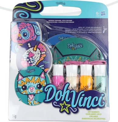 0919 Play Doh Vinci Styler Afbeeldingen met 4 Verschillende Kleuren Klei – 8x3x2cm