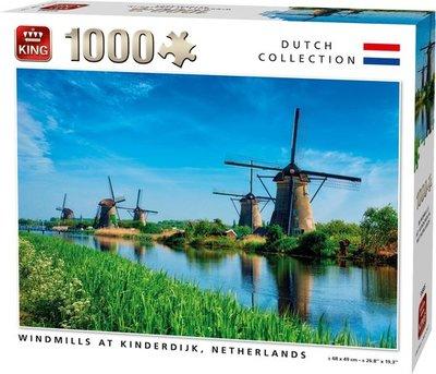 55885 King Puzzel Windmolens Kinderdijk 1000 Stukjes