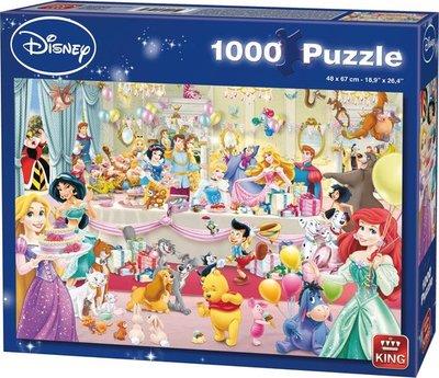 05264 King Disney Puzzel Birthday Party 1000 Stukjes