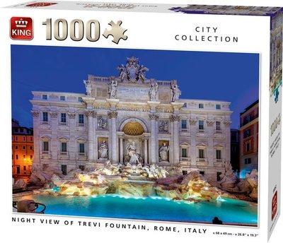 55852 King Puzzel Night View Of Trevi Fountain Rome Italy 1000 Stukjes